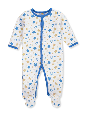 Sweet & Soft Baby Boys' Footed Coverall - CookiesKids.com