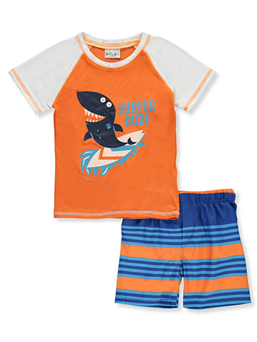Sweet & Soft Baby Boys' 2-Piece Swim Set - CookiesKids.com