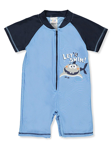 Sweet & Soft Baby Boys' Swim Romper - CookiesKids.com