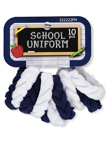 School Uniform 10-Pack Terry Ponyholders - CookiesKids.com