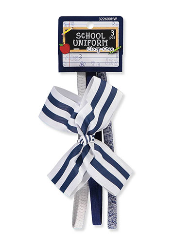 School Uniform 3-Pack Headbands - CookiesKids.com