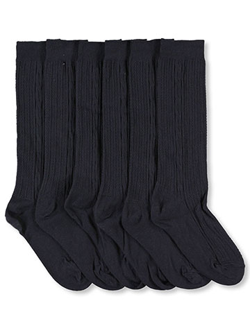 "Cookie's Brand ""Texture Cable"" 3-Pack Dress Socks (Sizes 5 – 11) - CookiesKids.com"