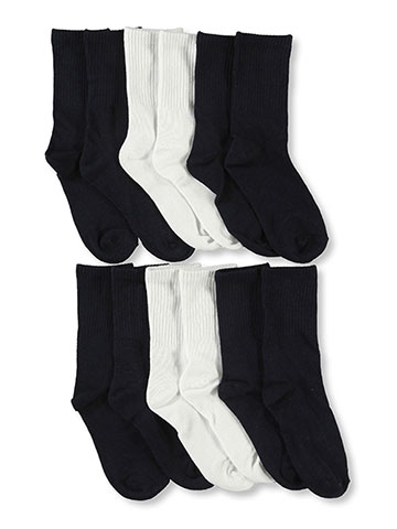 "Cookie's Brand ""Classic Crew"" 6-Pack Socks (Sizes 4 – 11) - CookiesKids.com"