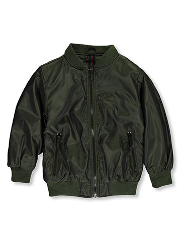 "Sportier Little Boys' ""Zipped Chrome"" Flight Jacket (Sizes 4 – 7) - CookiesKids.com"
