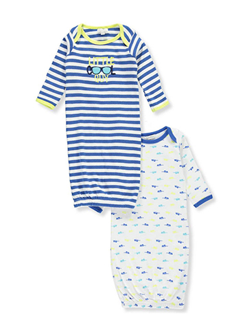 Quiltex Baby Boys' 2-Pack Gowns - CookiesKids.com