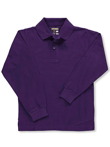 Universal Unisex L/S Pique Polo (Sizes 8 - 20) - CookiesKids.com