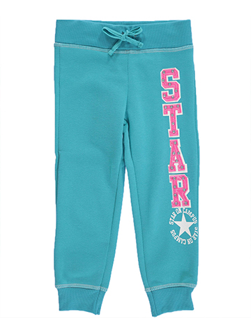 "One Step Up Little Girls' ""Star on Campus"" Jogger Pants (Sizes 4 – 6X) - CookiesKids.com"