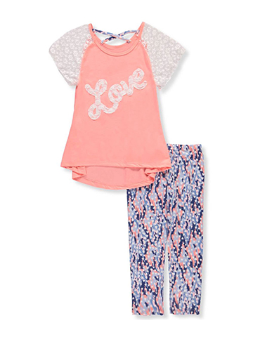One Step Up Girls' 2-Piece Pants Set Outfit with Headband - CookiesKids.com