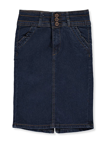 No Fuze Big Girls' Denim Skirt (Sizes 7 – 16) - CookiesKids.com