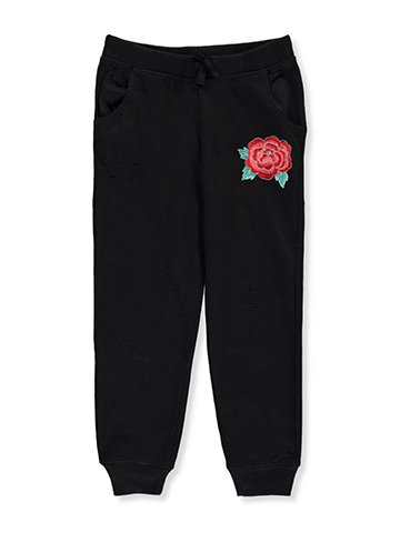 Star Ride Little Girls' French Terry Joggers (Sizes 4 – 6X) - CookiesKids.com