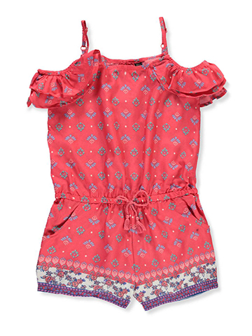 Star Ride Girls' Cold Shoulder Romper - CookiesKids.com