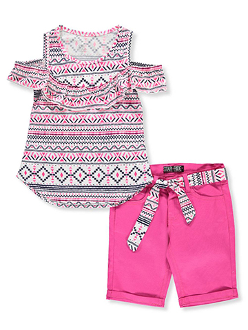 Star Ride Girls' 2-Piece Short Set Outfit - CookiesKids.com