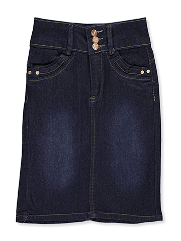 No Fuze Girls' Denim Pencil Skirt - CookiesKids.com