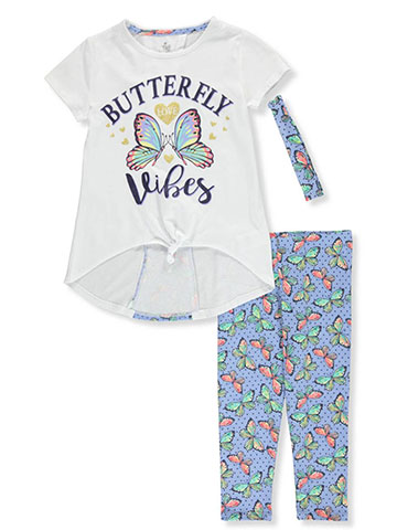 Star Ride Girls' 2-Piece Leggings Set Outfit with Headband - CookiesKids.com