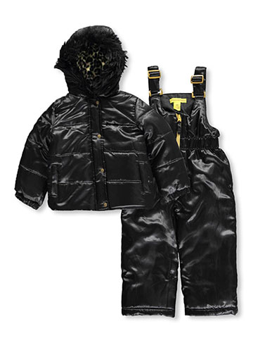 "U.S. Polo Assn. Little Girls' Toddler ""Satiny Leopard"" 2-Piece Snowsuit (Sizes 2T – 4T) - CookiesKids.com"