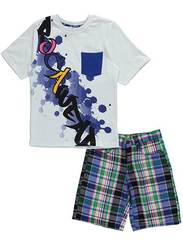 "Rocawear Big Boys' ""Drip Rag"" 2-Piece Outfit (Sizes 8 – 20) - CookiesKids.com"