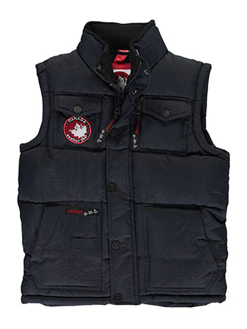 "Canada Weather Gear Big Boys' ""Quilted Collar"" Insulated Vest (Sizes 8 – 20) - CookiesKids.com"