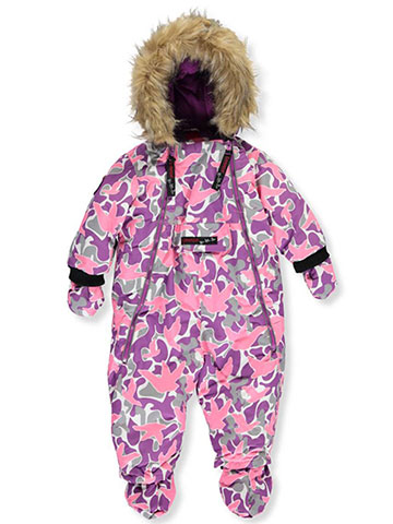 Canada Weather Gear Baby Girls' 1-Piece Snowsuit - CookiesKids.com