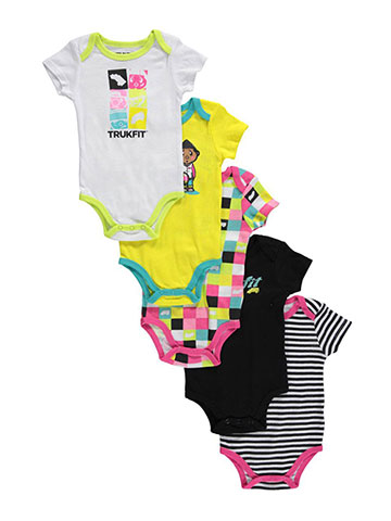 "Trukfit Baby Girls' ""Truk Together"" 5-Pack Bodysuits - CookiesKids.com"