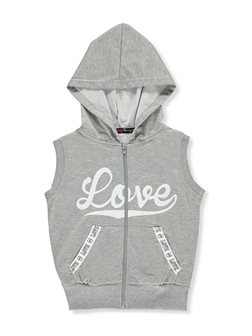Joyce Concept Girls' French Terry Hooded Vest - CookiesKids.com