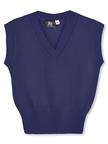 T.Q. Knits Unisex Sweater Vest (Sizes 8 - 20) - CookiesKids.com