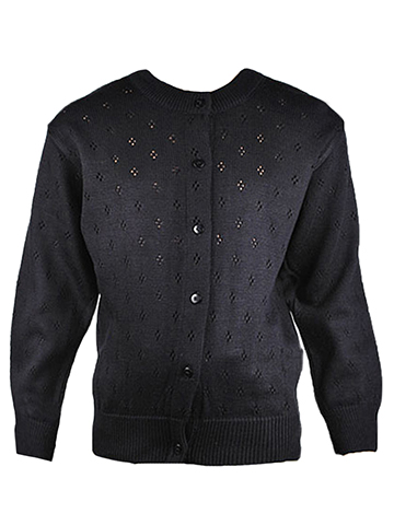 T.Q. Knits Control-Pil Perforated Cardigan (Sizes 7 – 20) - CookiesKids.com