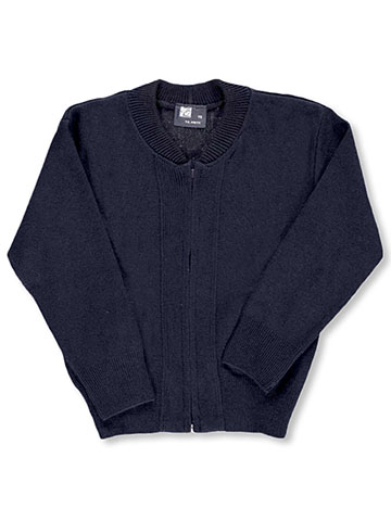 "T.Q. Knits Boys ""Ivy"" Zip-Up Sweater (Sizes 8 – 18) - CookiesKids.com"