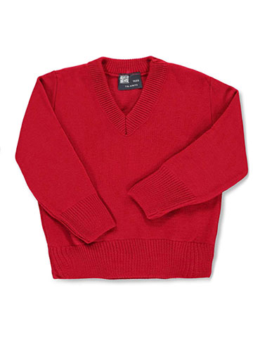 T.Q. Knits Little Boys' L/S Control-Pil™ V-Neck Sweater - CookiesKids.com