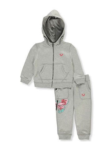 True Religion Baby Girls' 2-Piece French Terry Tracksuit - CookiesKids.com
