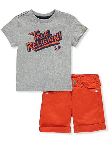 True Religion Baby Boys' 2-Piece Short Set Outfit - CookiesKids.com