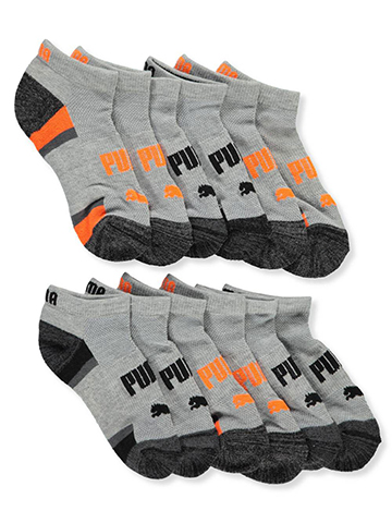 Puma Boys' 6-Pack Low-Cut Socks (Sizes 7 – 11) - CookiesKids.com