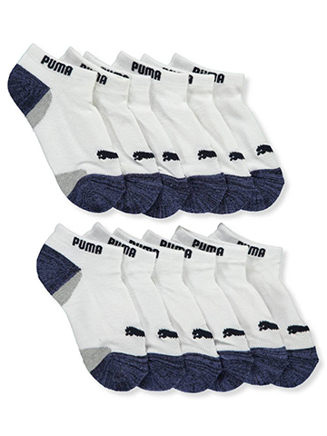 Puma Boys' 6-Pack Low-Cut Socks (Sizes 5 – 11) - CookiesKids.com