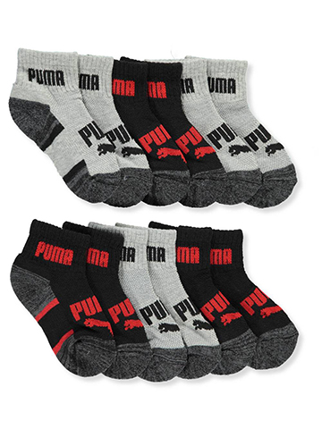 Puma Boys' 6-Pack Quarter Crew Socks - CookiesKids.com