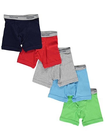 "Fruit of the Loom Little Boys' Toddler ""Leg Fit"" 5-Pack Boxer Briefs (Sizes 2T – 5T) - CookiesKids.com"
