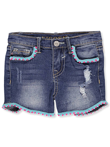Vigoss Girls' Denim Short Shorts - CookiesKids.com