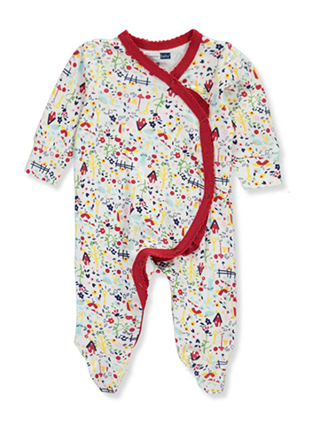 Vitamins Baby Baby Girls' Footed Coverall - CookiesKids.com