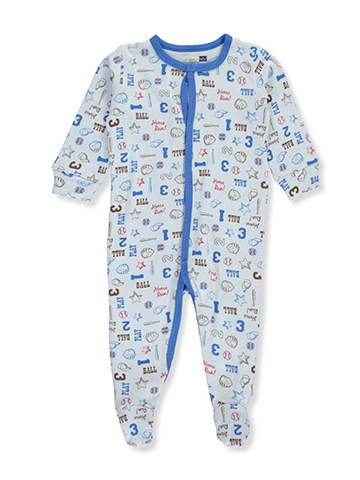 Vitamins Baby Baby Boys' Footed Coverall - CookiesKids.com