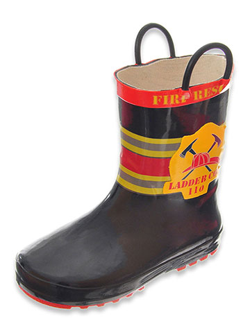 "Lilly Baby Boys' ""Ladder 110"" Rain Boots (Toddler Sizes 5 – 10) - CookiesKids.com"