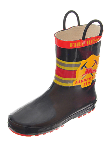 "Lilly Boys' ""Ladder 110"" Rain Boots (Youth Sizes 13 – 3) - CookiesKids.com"