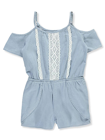 Chillipop Girls' Cold Shoulder Romper - CookiesKids.com