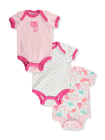 Weeplay Baby Girls' 3-Pack Bodysuits - CookiesKids.com