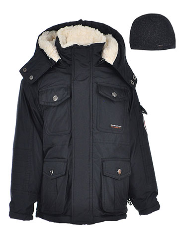Weatherproof 1948 Boys' Insulated Parka with Beanie - CookiesKids.com