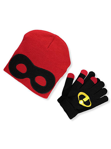 Disney Incredibles 2 Boys' Beanie & Mittens Set (Toddler One Size) - CookiesKids.com