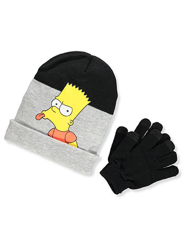 The Simpsons Boys' Beanie & Mittens Set (Toddler One Size) - CookiesKids.com