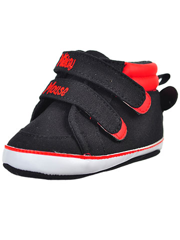 Disney Mickey Mouse Baby Boys' Hi-Top Sneaker Booties - CookiesKids.com