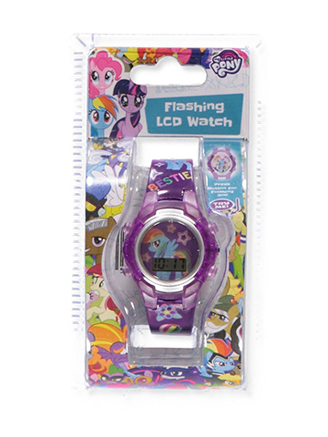 My Little Pony Flashing LCD Watch - CookiesKids.com