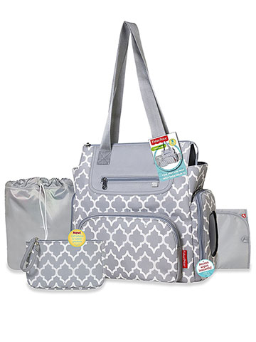 Fisher-Price 5-Piece Diaper Bag Set - CookiesKids.com