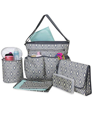 Baby Essentials 8-Piece Diaper Bag Set - CookiesKids.com