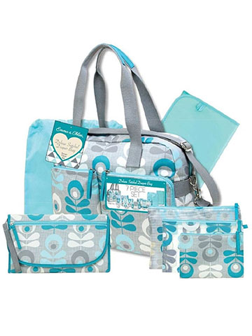 Emma & Chloe 7-Piece Deluxe Satchel Diaper Bag Set - CookiesKids.com