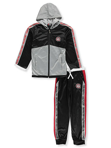 Akademiks Boys' 2-Piece Tricot Sweatsuit Pants Set - CookiesKids.com